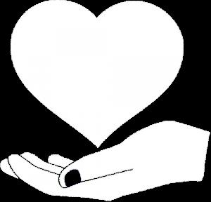 icona mano che sorregge cuore